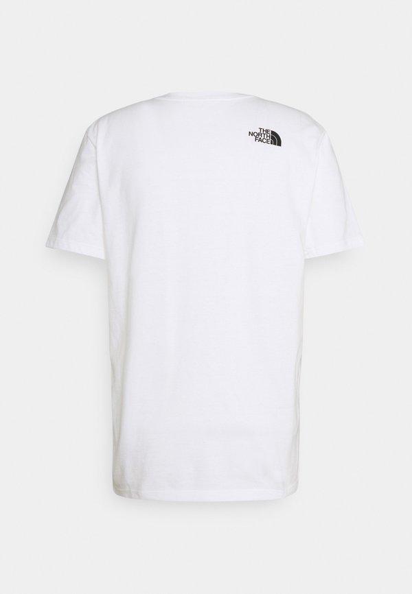 The North Face WARPED TYPE GRAPHIC TEE - T-shirt z nadrukiem - white/biały Odzież Męska RNRP