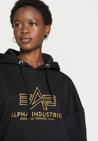 Alpha Industries - BASIC HOODY EMBROIDERY  - Sweatshirt - black - 4