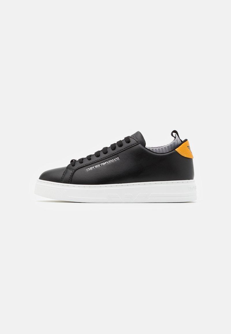 Emporio Armani - Sneakers basse - black/ochra/grey