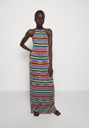 ABITO LUNGOSENZA MANICHE - Gebreide jurk - multi-coloured