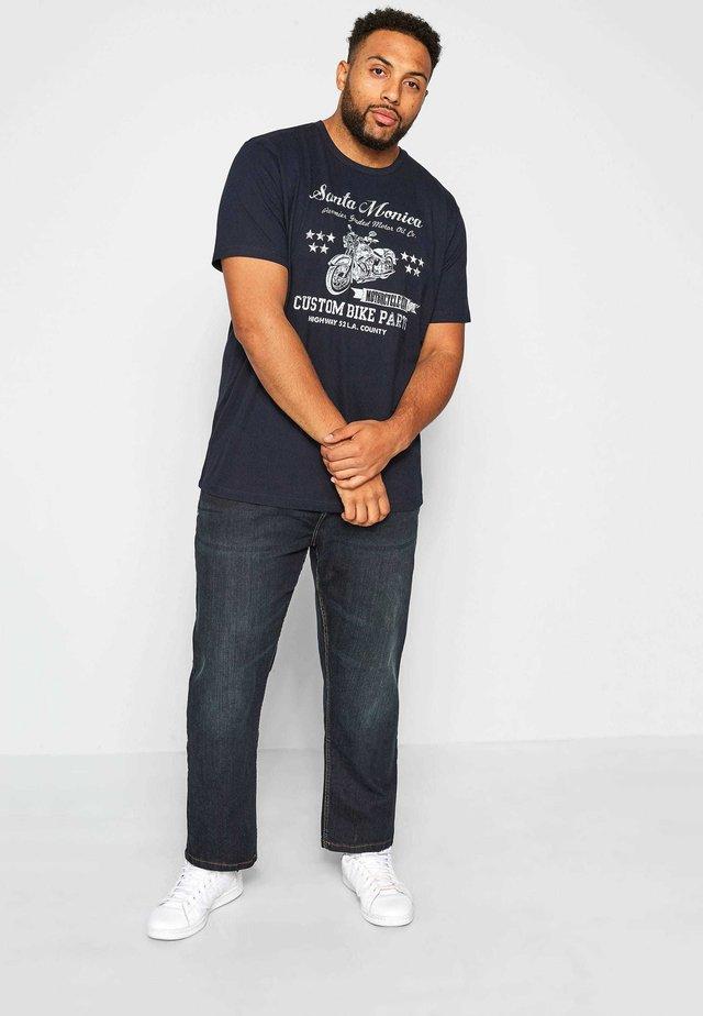 SANTA MONICA - Print T-shirt - blue
