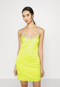 Missguided - EMBELLISHED NECK BODYCON DRESS - Cocktail dress / Party dress - lime - 4