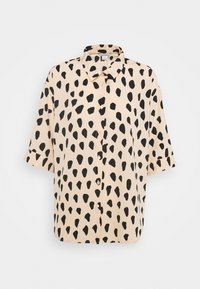 Monki - TAMRA BLOUSE - Button-down blouse - beige - 4