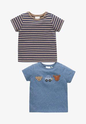 2 PACK  - T-shirt print - blue