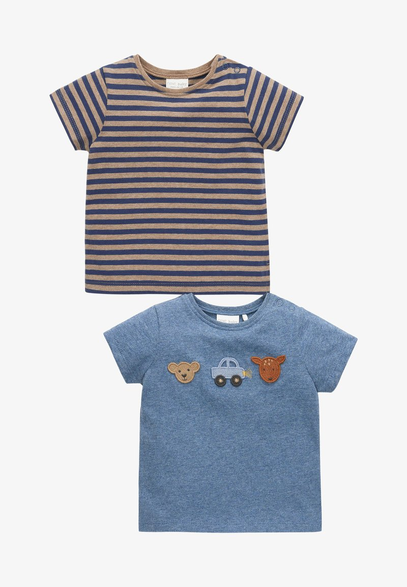 Next - 2 PACK  - T-shirt con stampa - blue