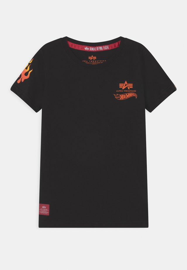 FLAME  - T-shirt print - black