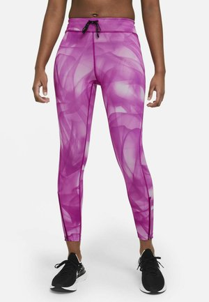 RUN 7/8 - Legginsy - red plum