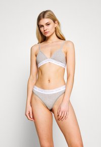 Calvin Klein Underwear - ONE UNLINED TRIANGLE AVERAGE - Kaarituettomat rintaliivit - grey heather - 1