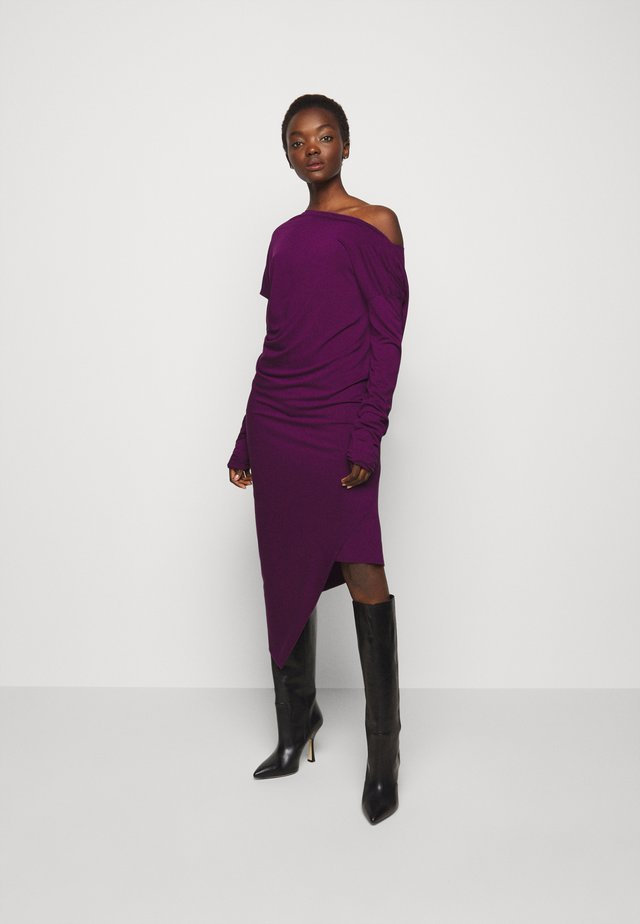 RAY DRESS - Jersey dress - purple