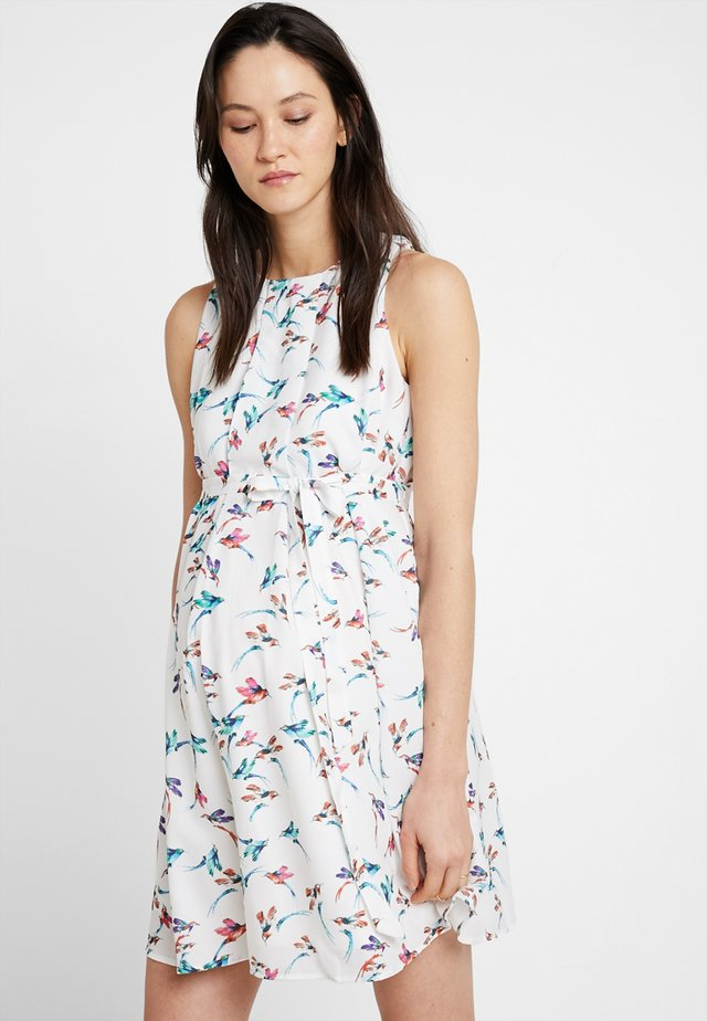 CARMENE SLEEVELESS PRINTED DRESS - Day dress - white