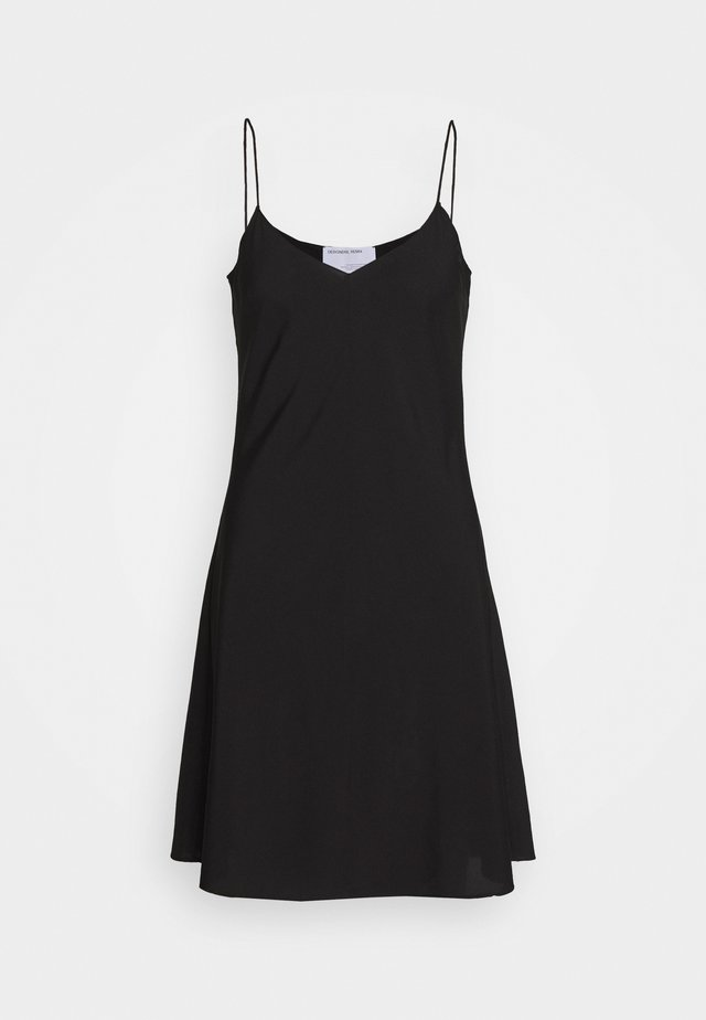 VALERIE SLIP DRESS - Korte jurk - black