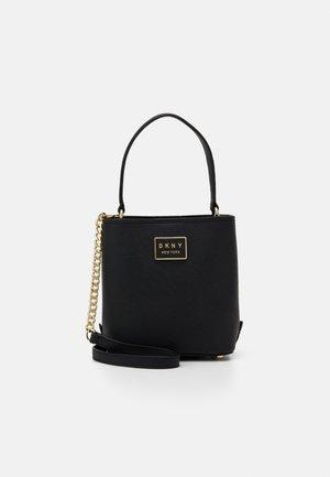 BIANCA BUCKET SAFFIANO - Handbag - black/gold