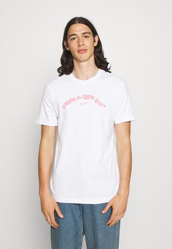 TEE HAVE A DAY - T-shirt con stampa - white