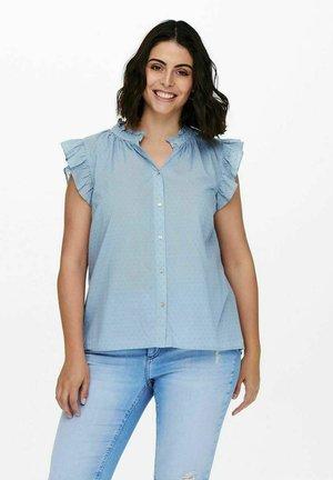 Button-down blouse - faded denim