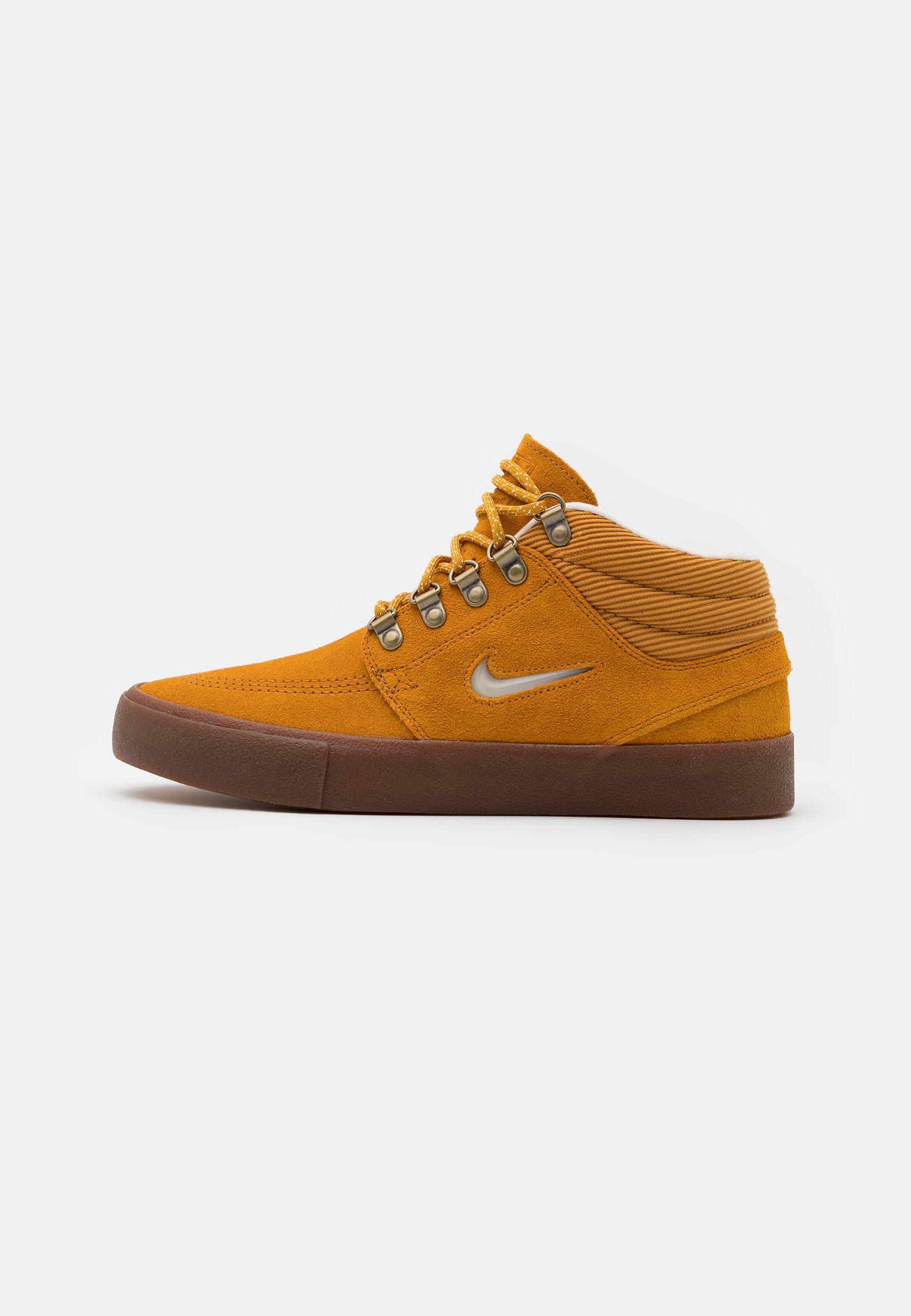 ZOOM JANOSKI MID - Chaussures de skate - chutney/white/medium brown