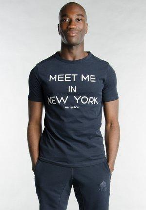 Print T-shirt - 3938 rugby blue