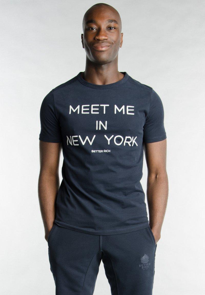 Better Rich - Print T-shirt - 3938 rugby blue