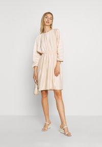 NA-KD - PLEATED OPEN BACK DRESS - Day dress - light pink - 1