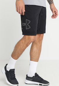 Under Armour - TECH GRAPHIC SHORT - Korte sportsbukser - black/graphite - 0