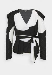 WRAP  - Blouse - black/white