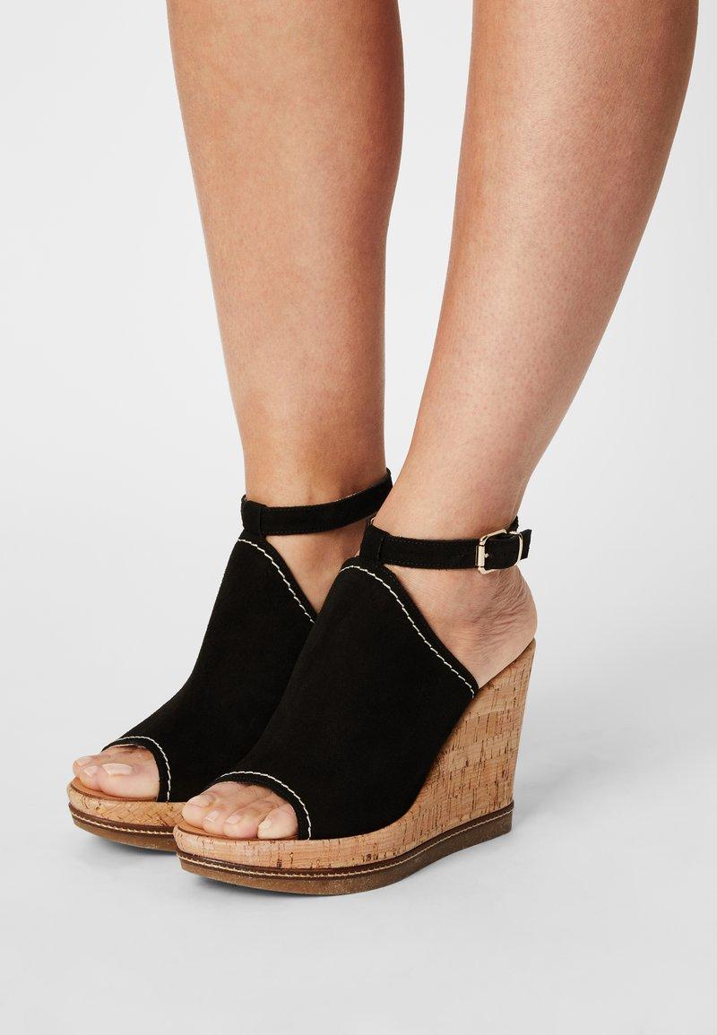 San Marina - ANTALYA - Sandals - noir