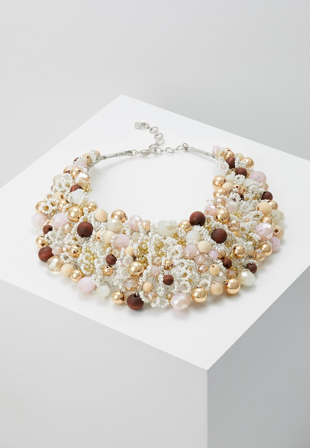 ARVAN - Necklace - brown/blush/crystal