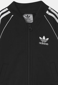 adidas Originals - SLICE TREFOIL CREW ADICOLOR ORIGINALS PULLOVER - Sportovní bunda - black/white - 3