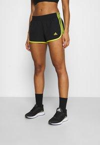 adidas Performance - M20 SHORT - Sports shorts - black/acid yellow - 0
