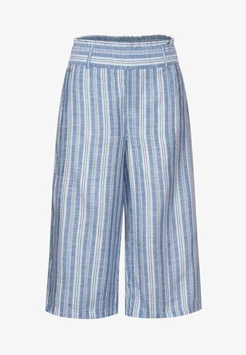 MIT WIDE LEGS - Trousers - blau