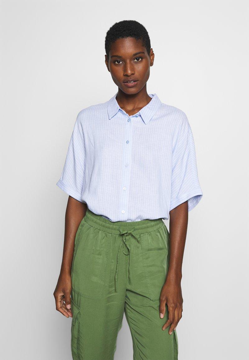 TOM TAILOR - BLOUSE LOOSE SHAPE - Button-down blouse - blue