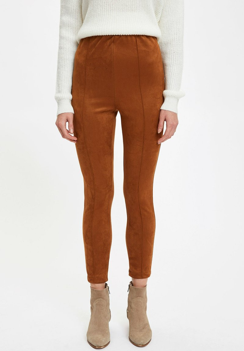 DeFacto - Leggings - brown