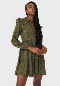Stradivarius - Day dress - dark green - 0