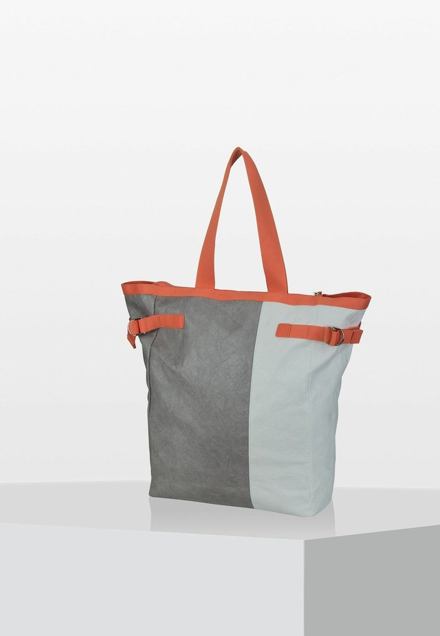 VARY TOTE - Tote bag - grey/white/sunset