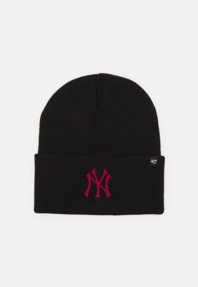 NEW YORK YANKEES HAYMAKER CUFF UNISEX - Czapka - black