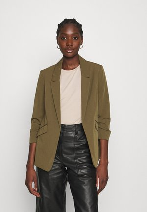 RUCHED SLEEVE JACKET - Blazer - khaki