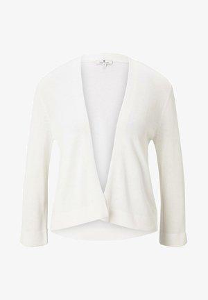 MIT SEITENSCHLITZEN - Cardigan - whisper white