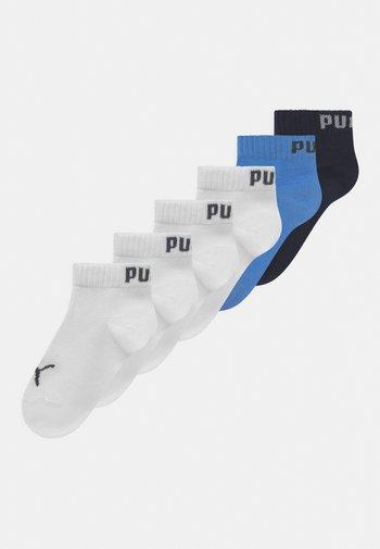 QUARTER 6 PACK UNISEX - Socks - marina/white