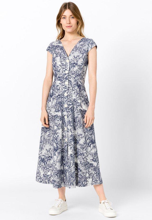 MIT TOILE-DE-JOUY-DRUCK - Robe chemise - blue