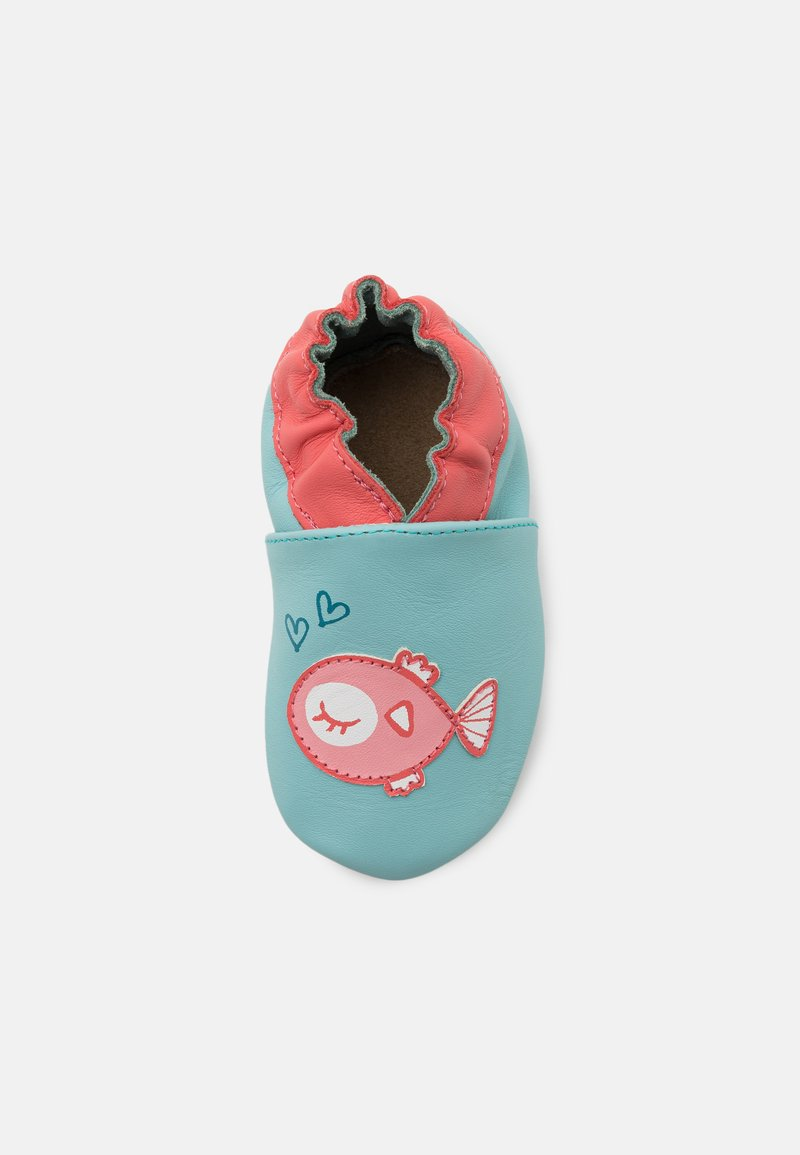 Robeez - FISH IN LOVE - First shoes - turquoise clair