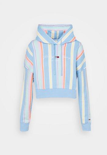 STRIPE HOODIE - Sweatshirt - light powdery blue