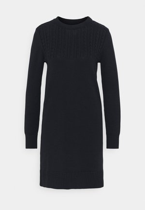 STITCH GUERNSEY DRESS - Jumper dress - navy