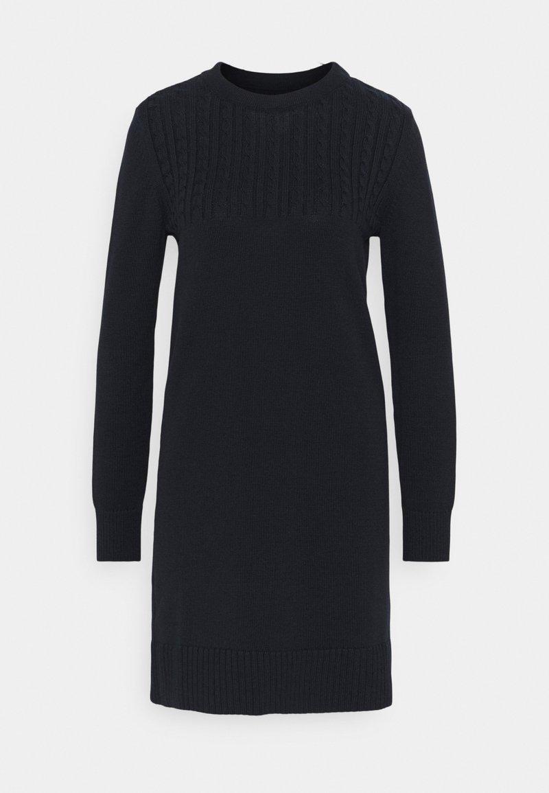 Barbour - STITCH GUERNSEY DRESS - Jumper dress - navy