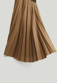 Massimo Dutti - A-line skirt - beige - 2