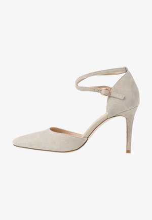 LEATHER PUMPS - Zapatos altos - grey