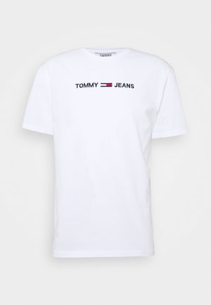 STRAIGHT LOGO TEE - Print T-shirt - white