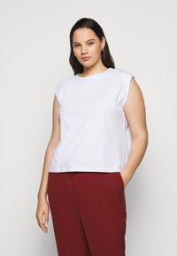 Pieces Curve - PCLIZ - Jednoduché triko - bright white - 0
