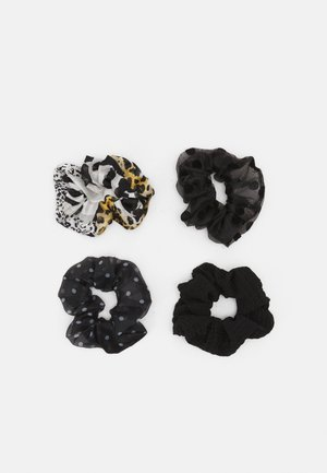 ONLLEA 4PACK MIX SCRUNCHIES - Hair styling accessory - black/mixed