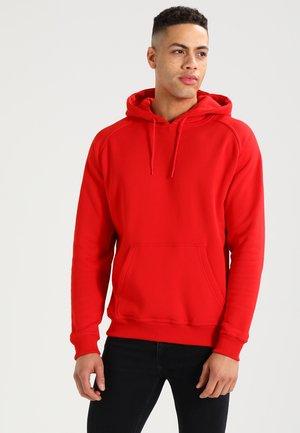 BLANK HOODY - Bluza z kapturem - red