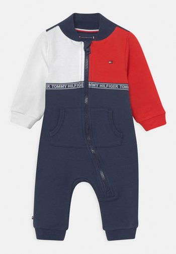 BABY COLORBLOCK COVERALL GIFTBOX UNISEX - Jumpsuit - blue