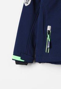 TrollKids - KIDS TROLLFJORD JACKET - Soft shell jacket - navy/light green - 2